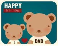 Cartão feliz do dia de pais ilustração stock