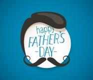 Cartão feliz do dia de pais com bigode ilustração royalty free