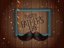 Cartão feliz do dia de pais com quadro ilustração royalty free