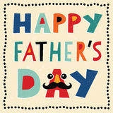 Cartão feliz do dia de pais com texto feito à mão Foto de Stock Royalty Free