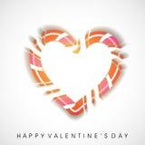 Cartão feliz do dia de Valentim, Imagens de Stock Royalty Free