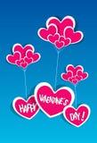 Cartão feliz do dia de Valentim ilustração stock