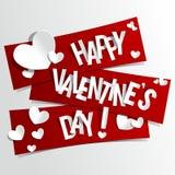 Cartão feliz do dia de Valentim ilustração royalty free