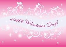 Cartão feliz do dia de Valentim Imagens de Stock