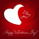 Cartão feliz do dia de Valentim com coração. Vetor Foto de Stock