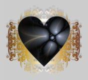 Cartão feliz do dia de Valentim com fractals Fotos de Stock Royalty Free