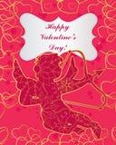 Cartão feliz do dia de Valentim do St ilustração royalty free