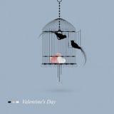 Cartão feliz do dia de Valentim, ilustração do vetor Fotos de Stock