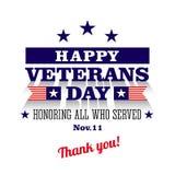 Cartão feliz do dia de veteranos ilustração do vetor