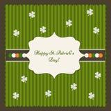 Cartão feliz do dia do ` s de St Patrick Foto de Stock