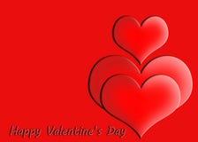 Cartão feliz do dia do `s do Valentim Fotos de Stock Royalty Free