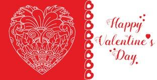 Cartão feliz do dia do `s do Valentim Imagens de Stock