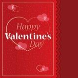 Cartão feliz do dia do `s do Valentim Fotografia de Stock