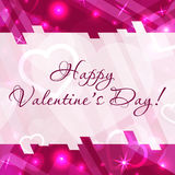 Cartão feliz do dia do ` s do Valentim com corações e espaço para o texto Fundo do vetor Imagem de Stock Royalty Free