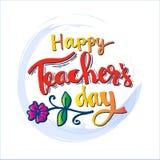 Cartão feliz do dia dos professores ilustração stock