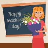 Cartão feliz do dia dos professores Imagem de Stock