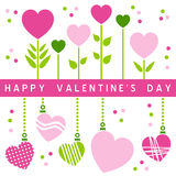 Cartão feliz do dia dos Valentim [1] Imagem de Stock