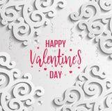 Cartão feliz do dia dos Valentim Fotografia de Stock