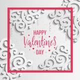 Cartão feliz do dia dos Valentim Imagens de Stock