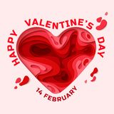 Cartão feliz do dia dos Valentim Fotos de Stock