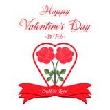 Cartão feliz do dia dos Valentim Fotografia de Stock Royalty Free