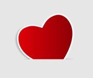 Cartão feliz do dia dos Valentim com coração. Vetor Fotografia de Stock Royalty Free