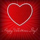 Cartão feliz do dia dos Valentim com coração. Vetor Ilustração Stock