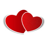 Cartão feliz do dia dos Valentim com coração. Vetor Imagens de Stock Royalty Free