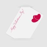 Cartão feliz do dia dos Valentim com coração. Vetor Foto de Stock Royalty Free