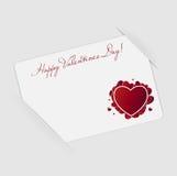 Cartão feliz do dia dos Valentim com coração. Vetor Imagem de Stock