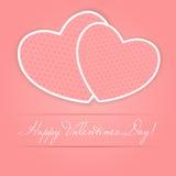 Cartão feliz do dia dos Valentim com coração. Vetor Fotos de Stock Royalty Free
