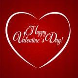Cartão feliz do dia dos Valentim com coração Vetor Foto de Stock Royalty Free