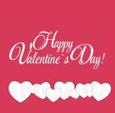 Cartão feliz do dia dos Valentim com coração Vetor Imagem de Stock