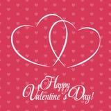 Cartão feliz do dia dos Valentim com coração Vetor Imagens de Stock