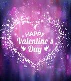 Cartão feliz do dia dos Valentim Eu te amo 14 de fevereiro ilustração stock