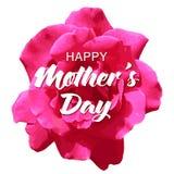 Cartão feliz do dia do ` s da mãe com a flor cor-de-rosa realística bonita Foto de Stock