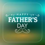 Cartão feliz do dia do ` s do pai ilustração stock