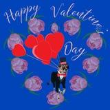 Cartão feliz do dia do `s do Valentim Imagens de Stock Royalty Free