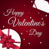 Cartão feliz do dia do `s do Valentim imagem de stock