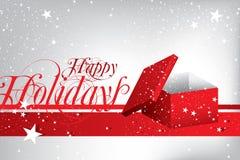 Cartão feliz do feriado Fotos de Stock