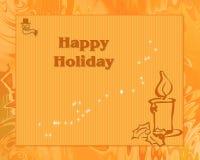 Cartão feliz do feriado Imagens de Stock