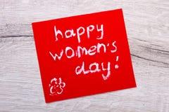 Cartão feliz do modelo do dia do ` s das mulheres Imagem de Stock Royalty Free
