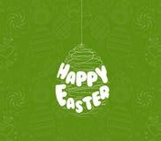 Cartão feliz do ornamento dos ovos da páscoa Imagens de Stock Royalty Free
