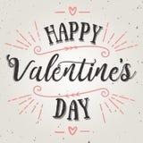 Cartão feliz do vetor do dia de Valentim Fotografia de Stock Royalty Free