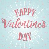 Cartão feliz do vetor do dia de Valentim Imagens de Stock Royalty Free