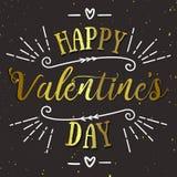 Cartão feliz do vetor do dia de Valentim Imagens de Stock
