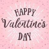 Cartão feliz do vetor do dia de Valentim Foto de Stock