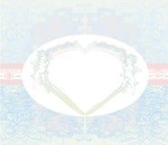 Cartão feliz do vintage do dia de Valentim com cupidos Imagem de Stock Royalty Free