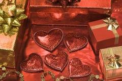 Cartão festivo com dia de Valentim Foto de Stock