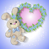Cartão festivo para um casamento ou uma grinalda do aniversário das rosas Fotografia de Stock